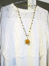Load image into Gallery viewer, lemon quartz necklace far view