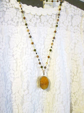 Load image into Gallery viewer, long gemstone necklace