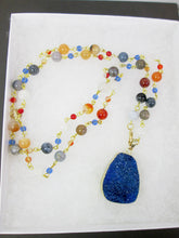 Load image into Gallery viewer, convertible gemstone beaded necklace