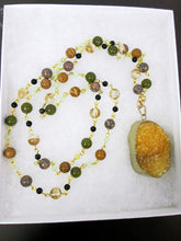 Load image into Gallery viewer, Convertible Lemon Quartz Crystals Healing Stones Necklace