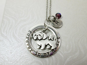 shih tzu dog necklace with personalization
