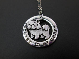 Shih Tzu Dog necklace close up view