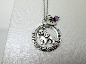 forever in my heart spaniel dog necklace