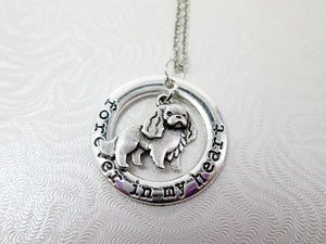 spaniel dog necklace