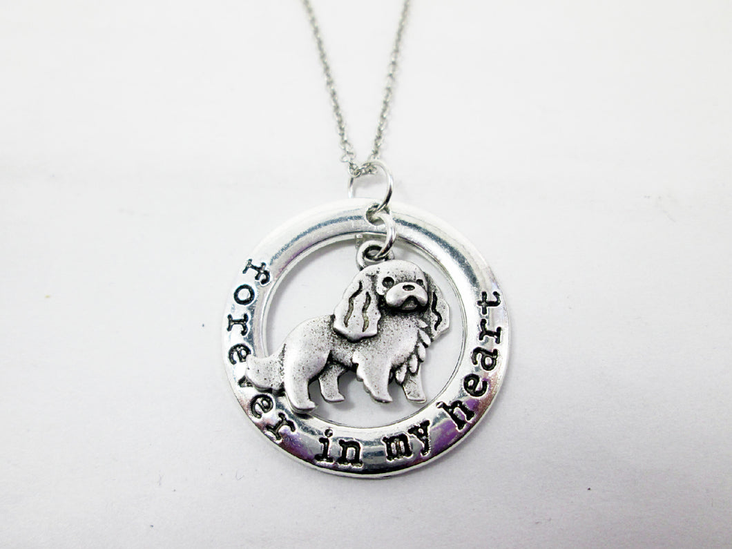 English spaniel dog necklace