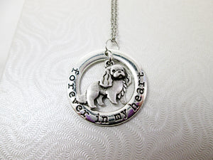 forever in my heart spaniel necklace