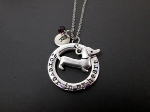 forever in my heart dachshund sausage dog necklace