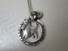 Load image into Gallery viewer, forever in my heart schnauzer dog necklace with personalization