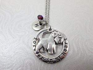 forever in my heart scottie necklace