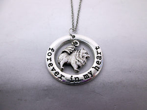 forever in my heart pomeranian puppy necklace