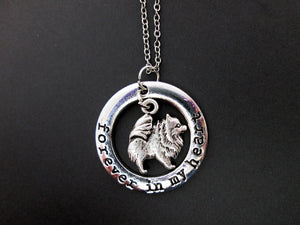 pomeranian puppy dog necklace