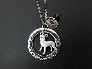 forever in my heart husky necklace with personalization