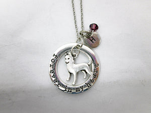 husky necklace with personalization