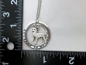 husky necklace with measurement