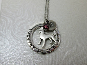 personalized husky dog necklace
