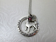 Load image into Gallery viewer, forever in my heart siberian husky necklace