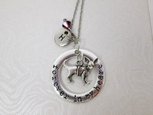 forever in my heart chihuahua dog necklace with personalization