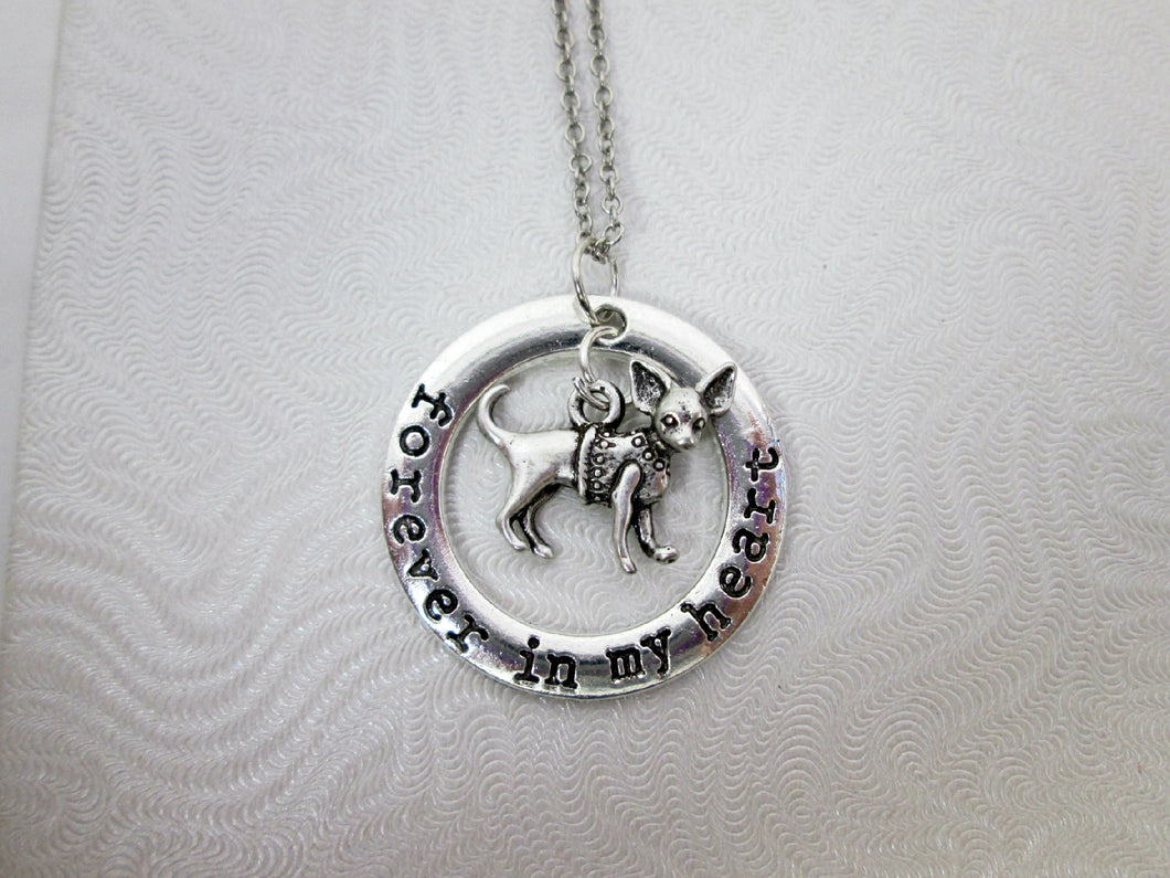 forever in my heart chihuahua necklace