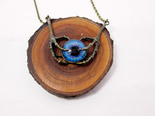 Load image into Gallery viewer, fantasy dragon claw eye necklace