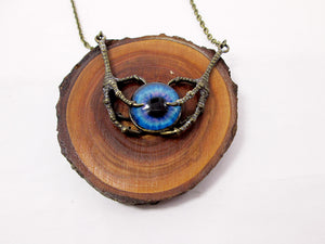 fantasy dragon claw eye necklace
