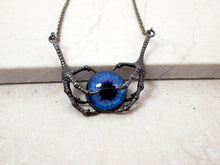 Load image into Gallery viewer, vintage style dragon claws holding eye necklace