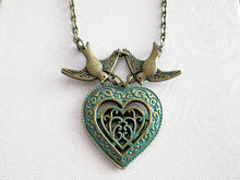 Load image into Gallery viewer, heart in heart love bird necklace