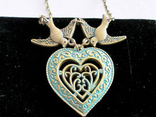 Load image into Gallery viewer, love bird heart necklace