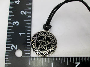 pentagram celtic pendant with measurement