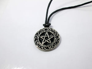 pentagram celtic knot pendant necklace