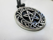 Load image into Gallery viewer, pentagram celtic pendant closeup view