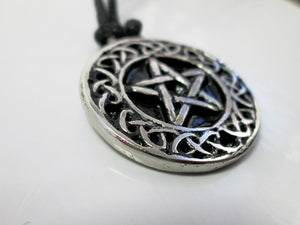pentagram celtic pendant closeup view