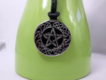 Load image into Gallery viewer, Celtic Pentagram pendant necklace