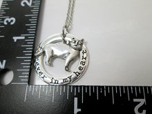 Load image into Gallery viewer, skinny cat necklace with measurement