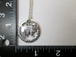 chubby cat necklace with measurement