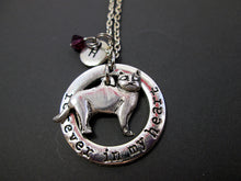 Load image into Gallery viewer, skinny cat necklace with personalization