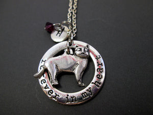skinny cat necklace with personalization