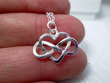 Load image into Gallery viewer, infinity love necklace close-up