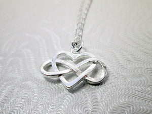 figure 8 heart necklace