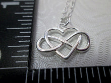 Load image into Gallery viewer, infinity love necklace with measurement