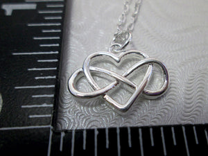 infinity love necklace with measurement