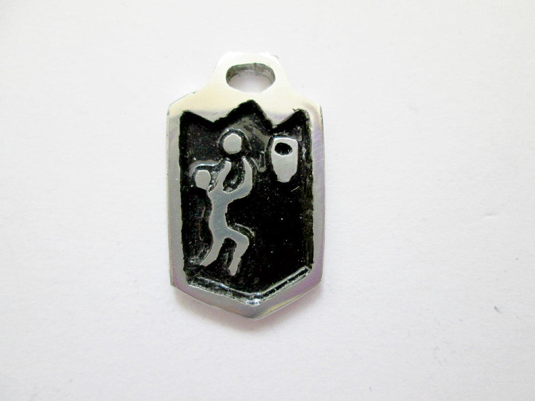 basketball player pendant