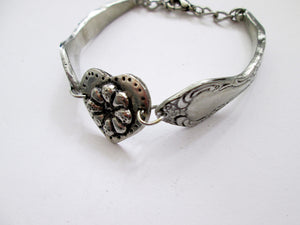fork bangle bracelet with heart