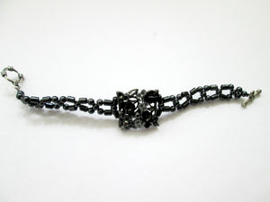 black and silver magnetic bracelet for woman