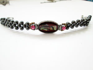 fancy vintage red magnetic bracelet for woman