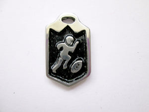 football player pendant