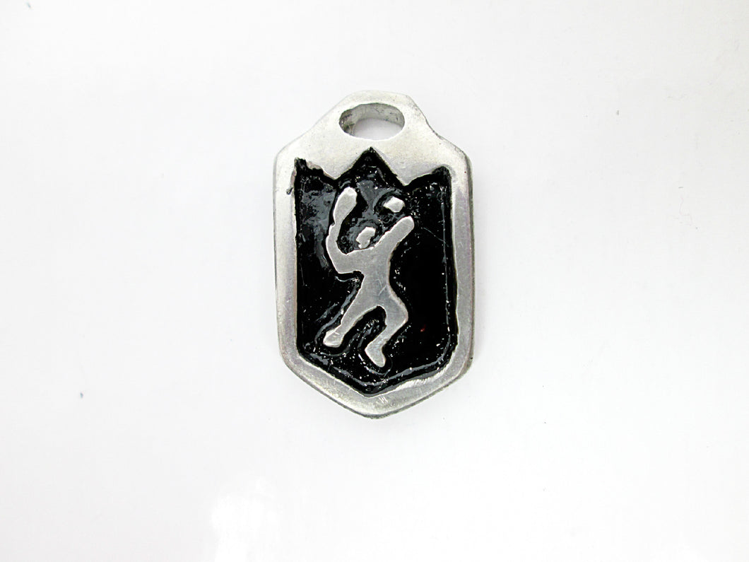 tennis player pendant