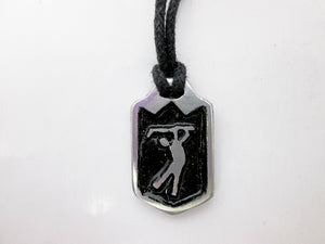golfing sports pendant necklace