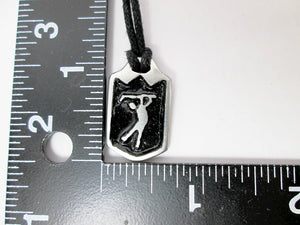 golfer necklace with measurement