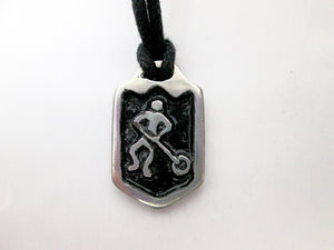 ringette sports pendant necklace