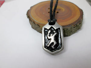 tennis player pendant necklace